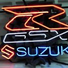 "Brand New SUZUKI Auto Racing Neon Light Sign 16""x 16"" [High Quality]"