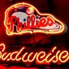 "Brand New Budweiser Beer MLB Philadelphia Phillies Baseball Neon Light Sign 13""x 9"" [High Quality]"