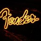"Brand New FENDER FMIC Neon Light Pub Sign 15""x10"" [High Quality]"