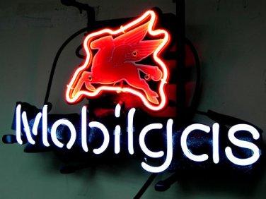 "Brand New Mobilgas Flying Horse Neon Light Sign 16""x15"" [High Quality]"