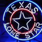 "Brand New Texas Lone Star Logo Neon Light Sign 16""x 16"" [High Quality]"