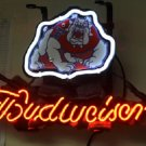 "Brand New Budweiser Beer Fresno State NCAA Neon Light Sign 13""x 9"