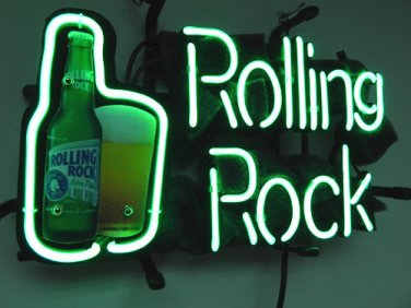 """Brand New ROLLING ROCK Beer Bar Neon Light Sign 14""""x 8"""" [High Quality]"""