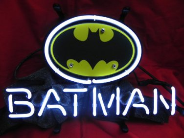 "Brand New Robin and Batman Logo Neon Light Sign 14""x 8"" [High Quality]"