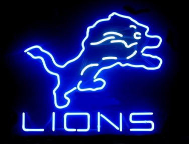 """Brand New NFL Detroit Lions Neon Light Sign 16""""x 15"""" - [High Quality]"""
