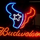 "Brand New Budweiser Beer NFL Houston Texans Beer Bar Neon Light Sign 16""x15"""