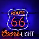 "Historic New Route 66 Mother Coors Light Beer Neon Light Sign 16""x15"" [High Quality]"