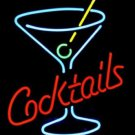 "New Cocktails Martini Glass Neon Light Sign 18""x 14"" [High Quality]"