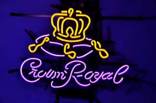 """Brand New Crown Royal Whiskey Neon Light Sign 17""""x 15"""" [High Quality]"""