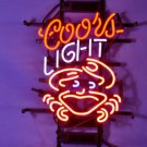 "Brand New Coors Light Crab Logo Beer Bar Pub Neon Light Sign 17""x 15"" [High Quality]"