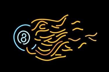 "Brand New Eight Ball Billiards Rack Pool Neon Light Sign 19""x 15"" [High Quality]"