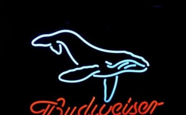 "Brand New Whale Logo Budweiser Bud Beer Bar Neon Light Sign 18"" x16"" [High Quality]"