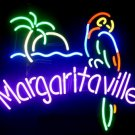 "New Jimmy Buffett's Margaritaville Parrot Neon Light Sign 16""x 14"" [High Quality]"
