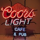 "Brand New Rare Coors Light Cafe Pub Beer Bar Neon Light Sign 18""x 16"" [High Quality]"