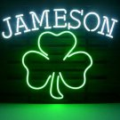 "New Jameson Irish Whiskey Shamrock Beer Bar Neon Light Sign 18""x 16"" [High Quality]"