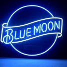 "Brand New Blue Moon Beer Bar Neon Light Sign 16"" x16"" [High Quality]"