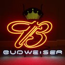 "Brand New JBUDWEISER King Beer Bar Pab Neon Light Sign 18""x 16"" [High Quality]"