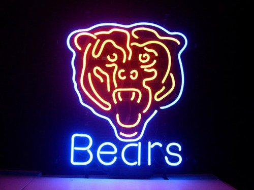 "Brand New NFL Chicago Bears Beer Bar Neon Light Sign 18""x 16"" [High Quality]"