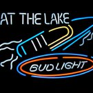 "Brand New BUD LIGHT At the lake Beer Neon Light Sign 16""x 14"" [High Quality]"