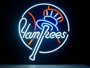 "Brand New MLB New York Yankees Pub Neon Light Sign 16""x 16"" [High Quality]"
