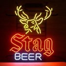 "Brand New Stag Beer Bar Real Glass Neon Light Sign 18""x 16"" [High Quality]"