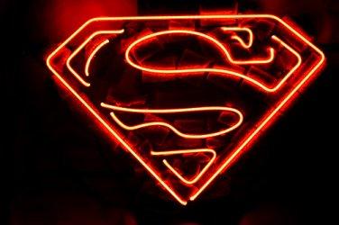 "Brand New Superman Logo Beer Bar Neon Light Sign 16""x 15"" [High Quality]"