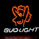 "Brand New BUD LIGHT Sexy Lady Beer Bar Neon Light Sign 16""x 14"" [High Quality]"