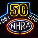 "Brand New NHRA 50 Years Drag Racing Beer Bar Neon Sign 16""x 14"" [High Quality]"