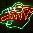 "Brand New NHL Minnesota Wild Hockey Beer Bar Pub Neon Light Sign 16""x 14"" [High Quality]"