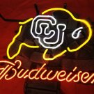 "Brand New Budweiser CU Buffs Colorado Buffalo Beer Bar Neon Light Sign 16""x 13"" [High Quality]"