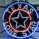 "Brand New Texas Lone Star Logo Beer Bar Neon Light Sign 16""x 16"" [High Quality]"