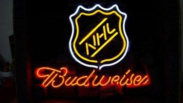 "Brand New NHL Logo Budweiser Beer Bar Neon Light Sign 17""x15"" [High Quality]"