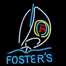 "Brand New Fosters enjoy Beer Sailboat Beer Bar Neon Light Sign 18""x15"" [High Quality]"