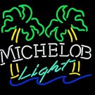 "Brand New Michelob Light Palm Tree Bar Neon Light Sign 18""x 15"" [High Quality]"
