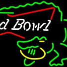 "Brand New Bud Bowl Alligator Beer Bar Neon Pub Light Bar Sign 18""x15"" [High Quality]"
