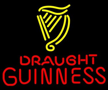 """Brand New Guinness Draught Brewery Beer Bar Neon Sign 17""""x15"""" [High Quality]"""