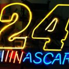 "Brand New NASCAR 24 Car Racing Auto Neon Light Sign 17""x 15"" [High Quality]"