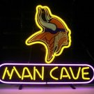 "Brand New Minnesota Vikings Man Cave NFL Football Beer Neon Light Sign 18""x 16"" [High Quality]"