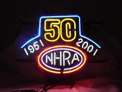 "Brand New NHRA 50 Years Drag Racing Neon Light Sign 16""x 14"" [High Quality]"