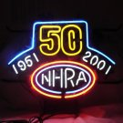 "Brand New NHRA 50 Years Drag Racing Neon Light Sign 16""x 14"" [High Quality]"
