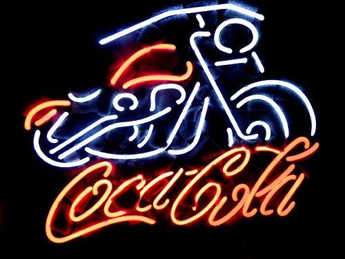 "Brand New Coca Cola Biker Motorcycle Neon Light Sign 17""x 15"" [High Quality]"