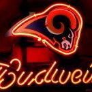 """Brand New Budweiser NFL Saint Louis Rams Neon Light Sign 13""""x 9"""" [High Quality]"""