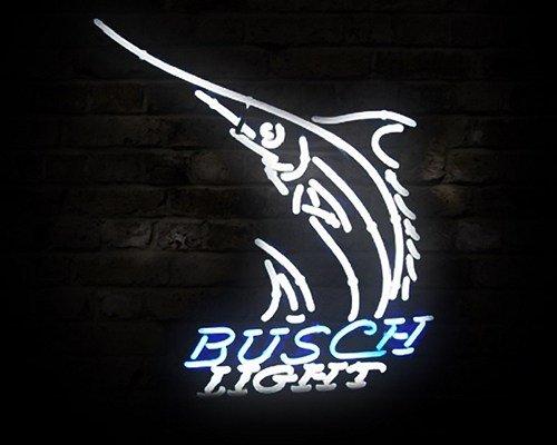 """Brand New Busch Light Shark Fish Logo Neon Light Sign 16""""x13"""" [High Quality]"""