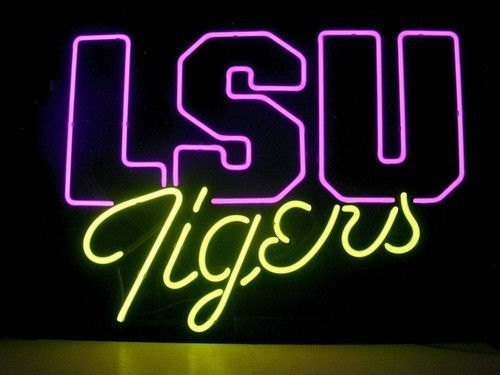 "Brand New LSU Tigers Sports Neon Light Sign 18""x 16"" [High Quality]"