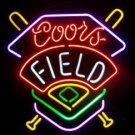 "Brand New Coors Field Baseball Beer Bar Neon Light Sign 17""x 14"" [High Quality]"