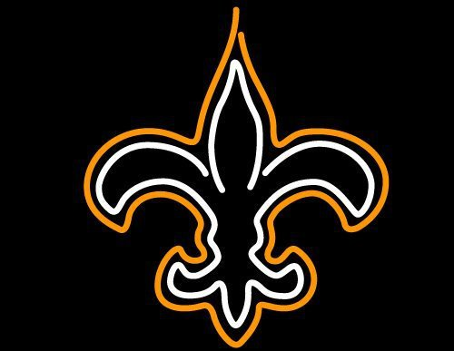 "Brand New NFL New Orleans Saints Logo Football Beer Bar Neon Light Sign 16""x 14"" [High Quality]"