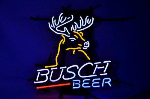 """Brand New Busch Light Deer Budweiser Beer Bar Neon Light Sign 16"""" x15"""" [High Quality]"""