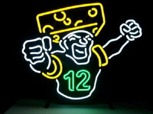 """Brand New NFL Green Bay Packers 12 Logo Beer Bar Pub Neon Light Sign 22""""x16"""" [High Quality]"""