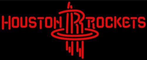 "Brand New NBA Houston Rockets Beer Bar Neon Light Sign 16""x 12"" [High Quality]"