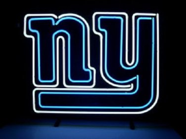 """Brand New NFL New York Giants Football Beer Neon Sign 17""""x 16"""" [High Quality]"""